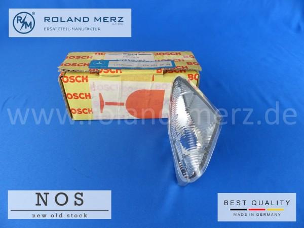 Lichtfenster links (Parklicht, glasklar) Mercedes 108 826 05 90, Original Bosch für 300SEL 6.3