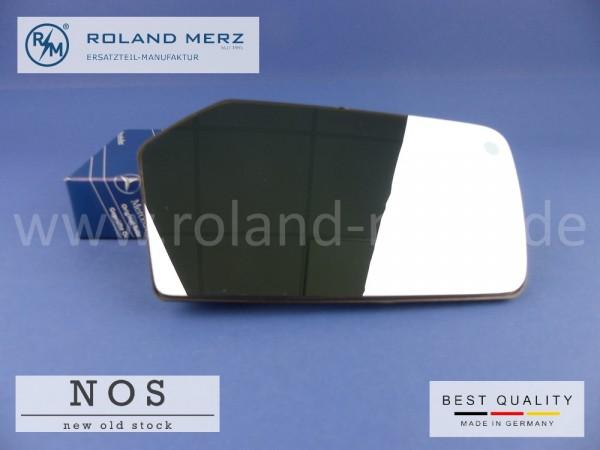 Außenspiegelglas rechts kompl. 116 810 16 21 für Mercedes SL - R 107 und W 116 für die Baujahre 1972 - 1980