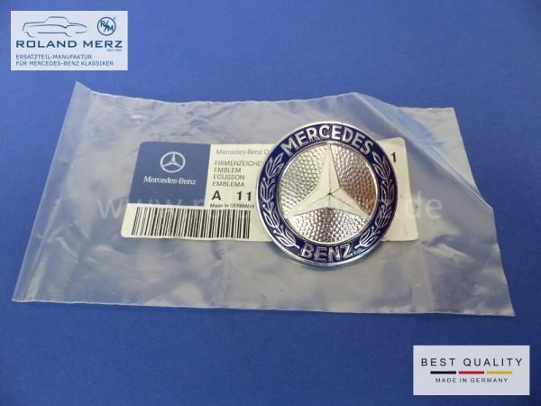 Mercedes Firmenzeichen 115 880 01 88 für MB 111 - 280SE Coupé und Cabriolet (Flachkühler) in original Aluausführung