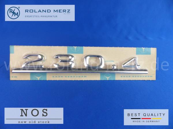 115 817 09 15 Typenkennzeichen / Schriftzug 230.4 auf Heckdeckel original Neuteil/ NOS für Mercedes 230.4
