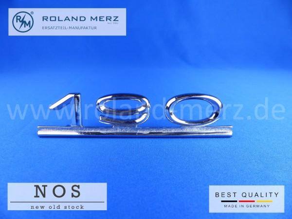 """Typenzeichen """"190"""", 121 817 01 15 auf Heckdeckel für Mercedes Ponton"""