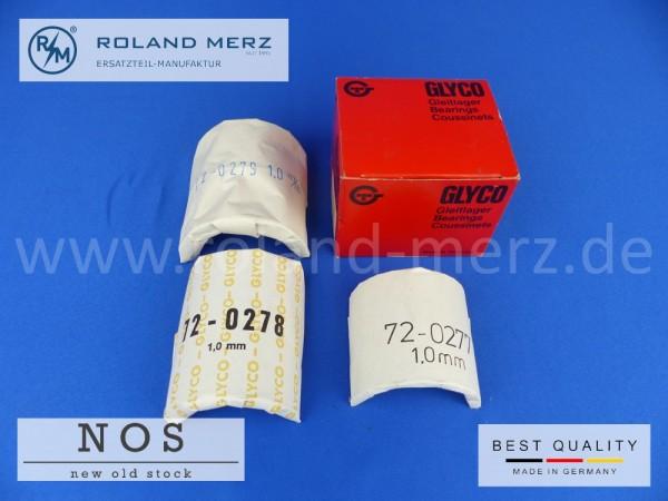 Satz Kurelwellenlagerschalen 1,00mm, Mercedes 636 030 09 97 für Motor OM 636, MB 170D, 180D, Db