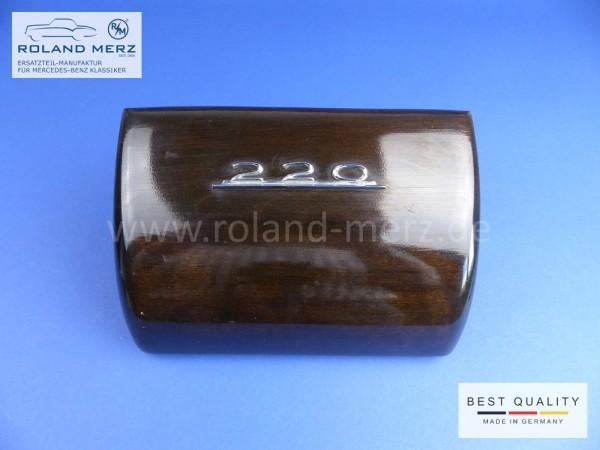 Holzabdeckung Radioschacht 10 180 680 00 96 für Armaturenbrett mit Chromschriftzug für Mercedes Pont