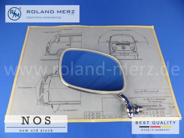 Außenspiegel links verchromt für VW Bus T2 NOS (Originalteil, keine Repro) Vergl.-Nr. 211857513