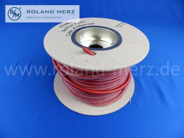 1m Beru Zündleitung rot, Spannung 38000V, Temperatur bis 220°C, Güte/Klasse F, DIN/ISO 3808