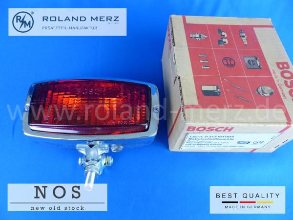 0 313 101 004 Bosch Nebelschlußleuchte 145 x 70 mm Neuteil / NOS vollverchromt für Mercedes, BMW, VW