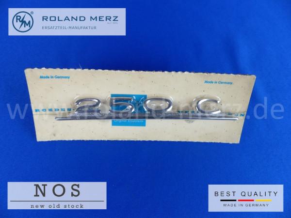 114 817 02 14 Typenkennzeichen innen an Armaturenbrett Mercedes 250 C, original Neuteil/NOS