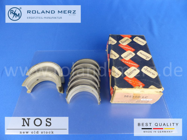 Satz Kurbelwellenlager 0,50 mm (Glacier) NOS MB Verg. Nr. 180 586 14 03 für Mercedes 219, 220a und alle 220S Modelle