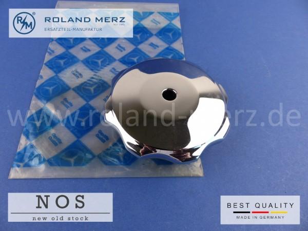 Kühlerverschlußschraube verchromt 153 501 0115 für feststehenden Stern (8,4mm Bef. Loch) für Mercedes 170V - 220