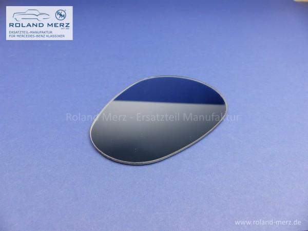 Spiegelglas Excelsior plan blaugetönt mit Randversieglung und Splitterschutzfolie