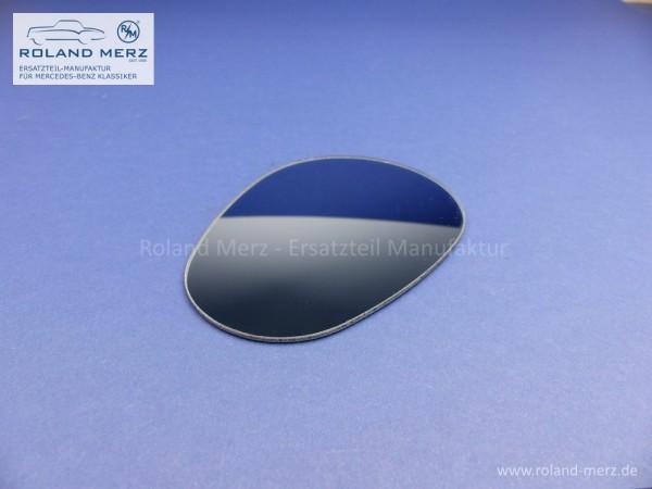 Spiegelglas Excelsior konvex blaugetönt mit Randversieglung und Splitterschutzfolie