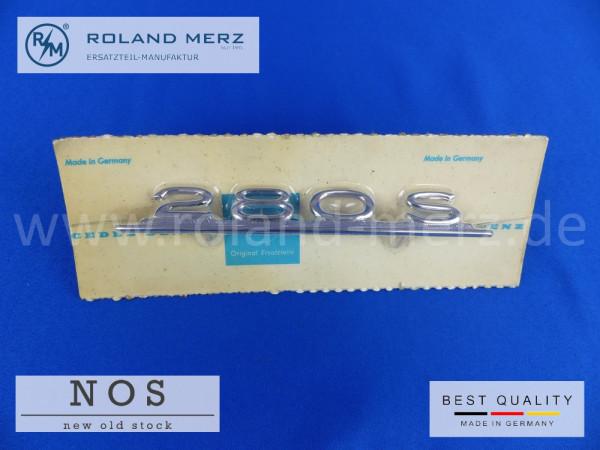 108 817 02 14 Typenkennzeichen innen an Armaturenbrett Mercedes 280 S, original Neuteil/NOS