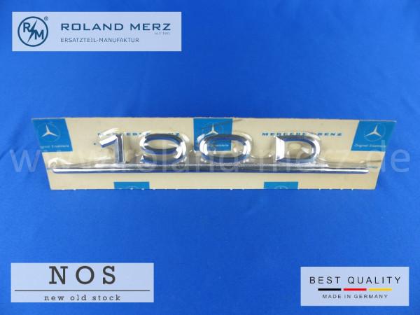 110 817 02 15 Typenkennzeichen / Schriftzug 190D auf Heckdeckel original Neuteil/ NOS für Mercedes 190Dc
