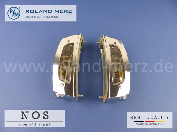 Satz Kennzeichenleuchten 108 820 03 62 & 04 62 (links und rechts) NOS Originales Hella Neuteil für Mercedes W108, W109 - 250S - 300SEL