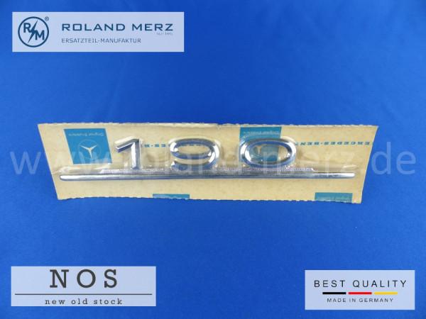 110 817 01 15 Typenkennzeichen / Schriftzug 190 auf Heckdeckel original Neuteil/ NOS für Mercedes 190c