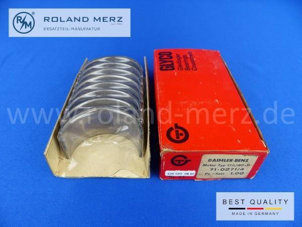 Satz Pleuellagerschalen 1,00mm, Mercedes 636 030 08 60 für OM 636, 170D, 180D, Db