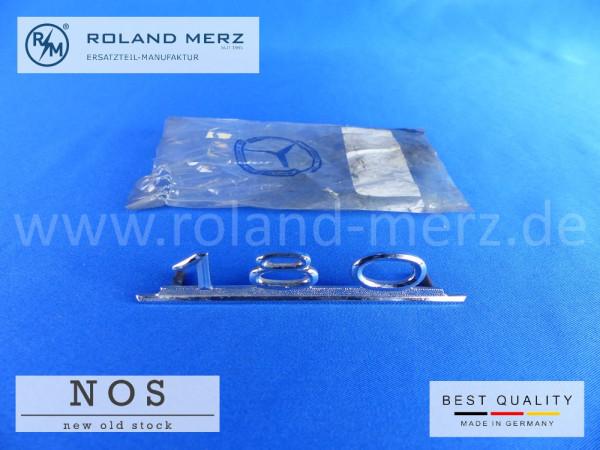 120 817 00 14 Mercedes Typenkennzeichen innen an Schalttafel mitte 180 original Neuteil/NOS