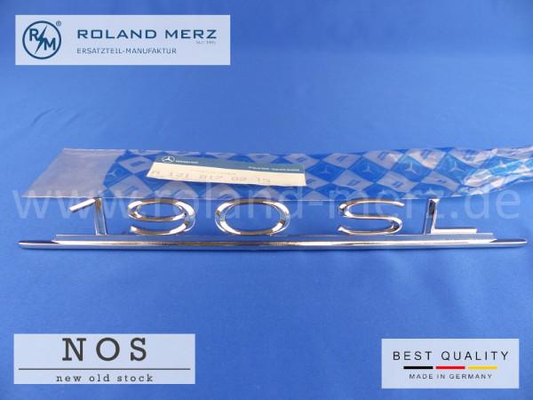 121 817 02 15 Typenkennzeichen /Schriftzug 190 SL auf Heckdeckel Original-MB-Neuteil (Alte Nr. 40 121 817 00 15) NOS (kein Nachbau)