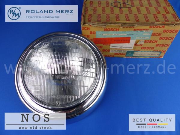 Sealed-Beam-Scheinwerfer kompl. mit Chromring Bosch 0 302 600 011, Mercedes Vergl.-Nr. 110 820 21 61
