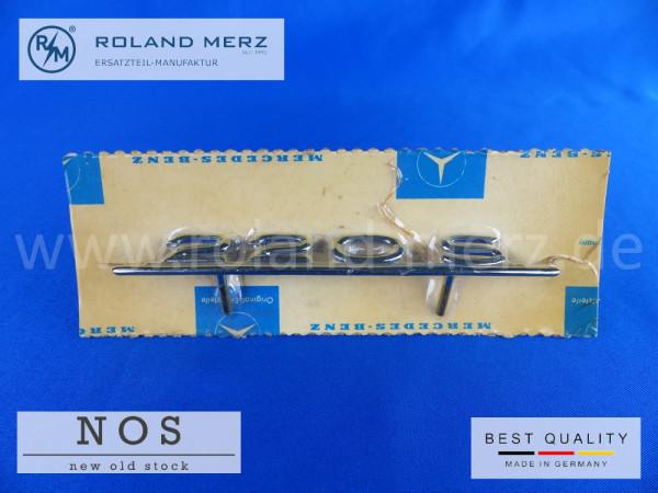 10 180 817 02 14 Mercedes Typenkennzeichen innen an Schalttafel mitte 220 S Ponton original Neuteil/NOS