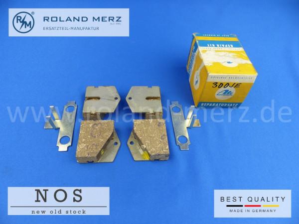 Bremsklotzsatz Mercedes 000 586 02 42 für alle 300SE Bm 112 ATE 3.0870-0002,2 mit Befstingsmaterial für Handbremse