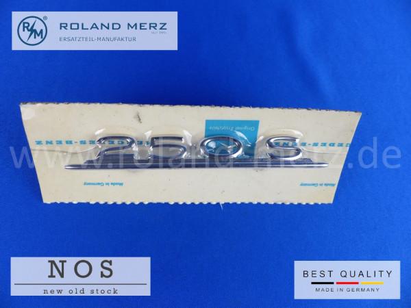 108 817 00 14 Typenkennzeichen innen an Armaturenbrett Mercedes 250 S, original Neuteil/NOS