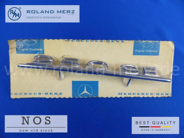 108 817 01 14 Typenkennzeichen innen an Armaturenbrett Mercedes 250 SE, original Neuteil/NOS