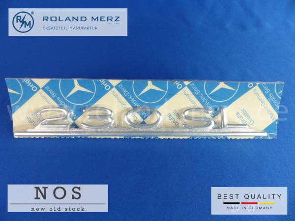 113 817 03 15 Typenkennzeichen Mercedes 230 SL auf Heckdeckel Original Neuteil/NOS