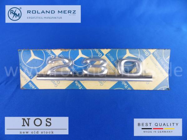 114 817 08 15 Mercedes Typenkennzeichen auf Heckdeckel 230 original Neuteil/NOS