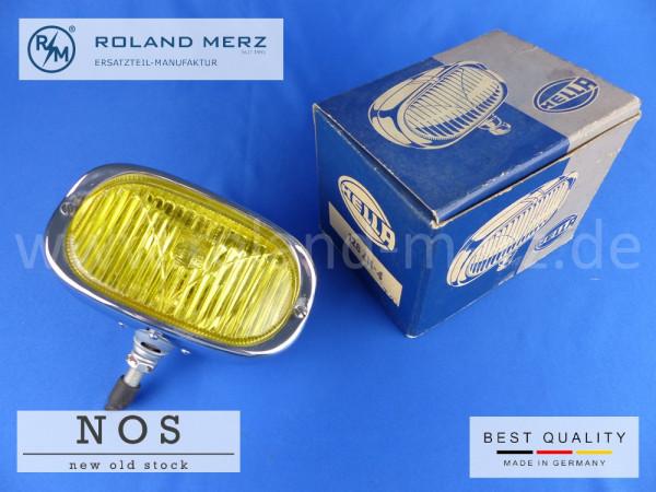 Hella 128 ZN - 4 Nebelscheinwerfer mit gelben Glas und Chromgehäuse für Porsche 356