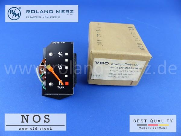 Kraftstoffmesser original VDO 301.23/13/1 Mercedes 000 542 68 03 für 220b, Sb, Seb, 300SE und Bm 110