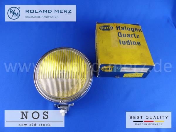 Nebelscheinwerfer Hella 142 ZNH-6 CC, Mercedes Vergl.-Nr. 000 820 28 61 Originalteil vollverchromt (NOS) mit gelben Glas