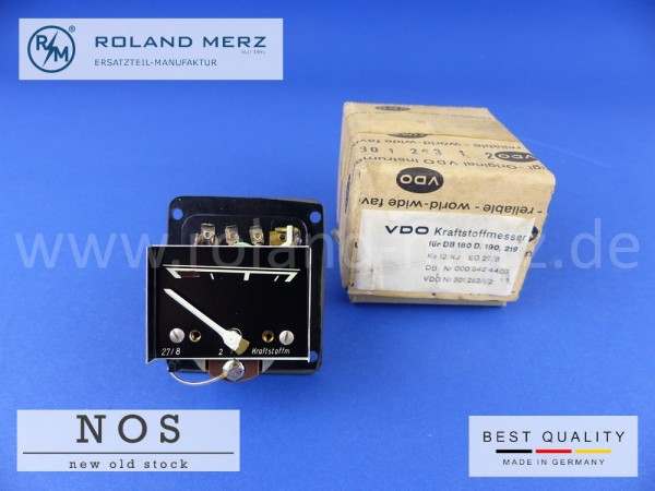 Kraftstoffmesser original VDO 301.263/1/2 Mercedes 000 542 44 03 für 180a, b, c, D, Db, 190, b, D, Db, 219