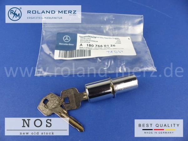 Drückerknopf mit Zylinderschloss Mercedes 30 180 766 01 26 für 190SL und 180 - 220SE