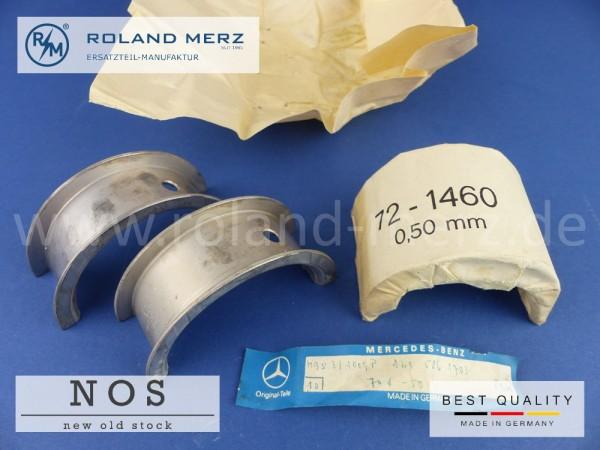 Satz Kurbelwellenlager 0,50mm Mercedes 121 030 05 40 (121 586 17 03) für 180 - 190SL, M 121
