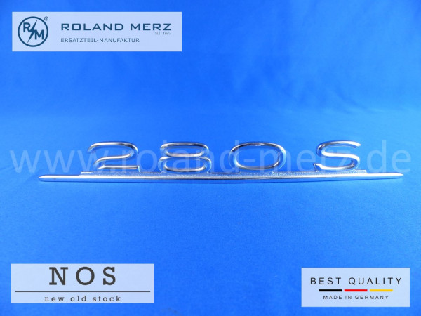 108 817 02 15 Typenkennzeichen Mercedes 280 S auf Heckdeckel Neuteil/NOS