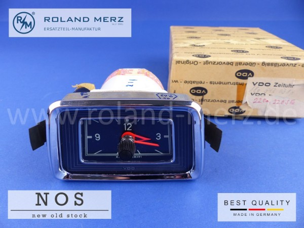 Zeituhr original VDO (Neuteil NOS) elektrisch MB-NR 180 542 0311 / 0511 für Mercedes 220S, SE, Cp., Cab.