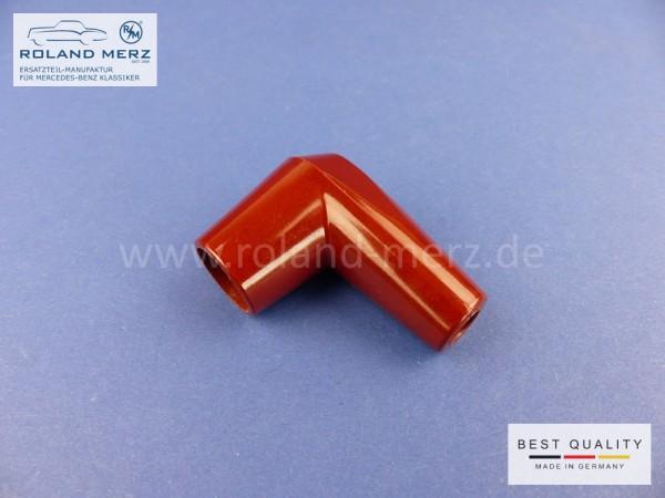 Kerzenstecker 22 071/1 Winkel aus Bakelit für Ø7mm Zündkabel M4 (1kΩ entstört)